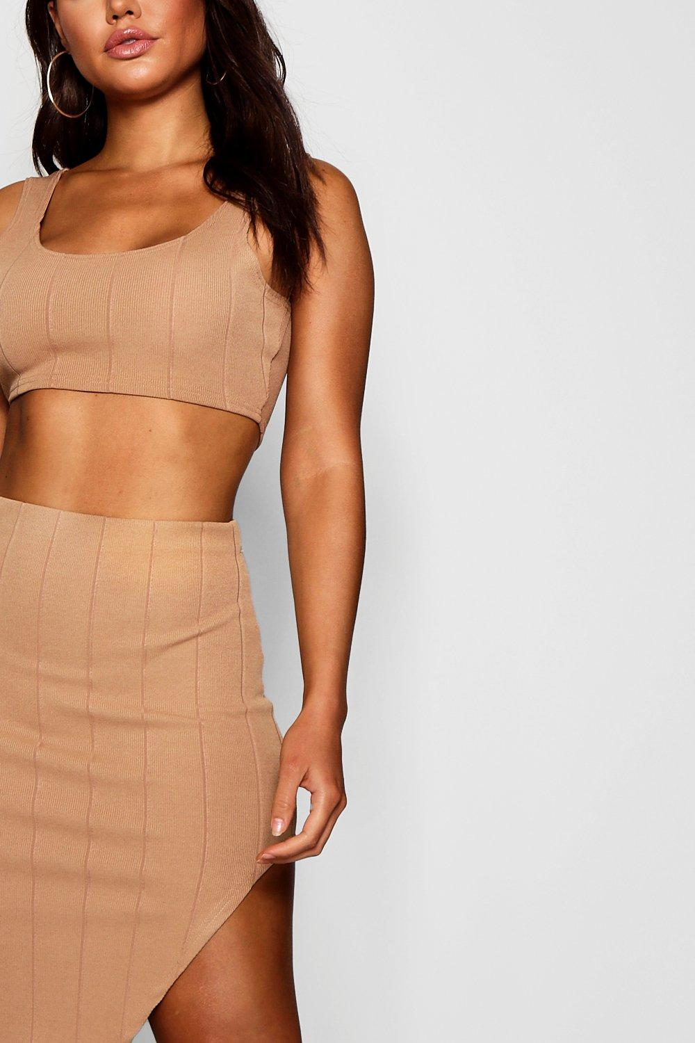 8ee7deb0127 Womens Soft pink Bandage Skirt and Crop Top Co-ord Set. Hover to zoom. Close  video