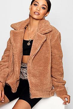 Women's 70s Shirts, Blouses, Hippie Tops Teddy Faux Fur Aviator $120.00 AT vintagedancer.com