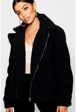 Dam Black Teddy Faux Fur Aviator