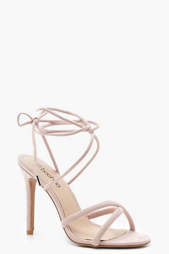 Cross Strap Wrap Ankle Heels