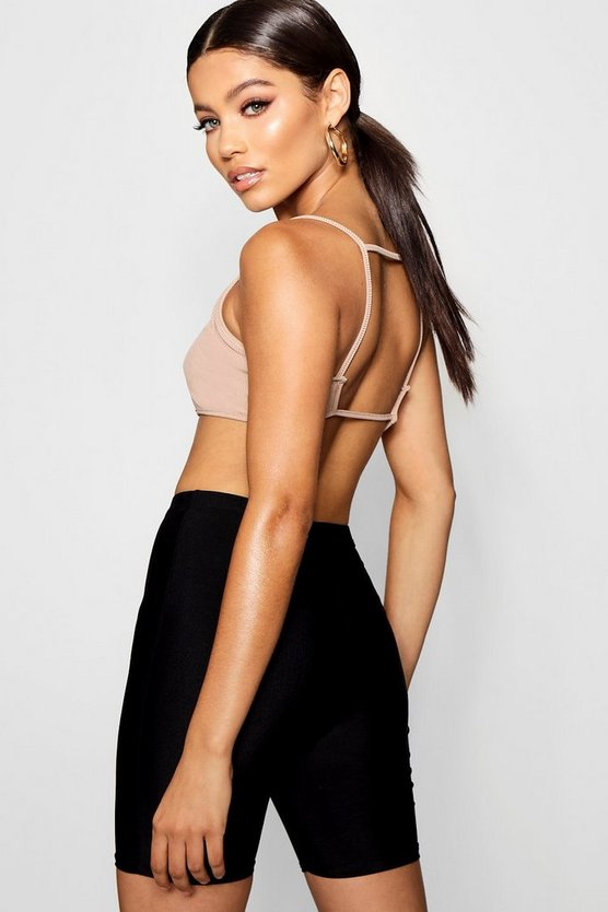 Rib Strappy Open Back Bralet