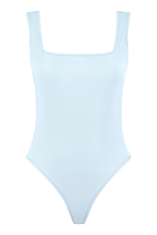 Rib Square Rib Neck Square Neck petrol Rib Bodysuit Bodysuit petrol Bodysuit Neck Square wtSI8q