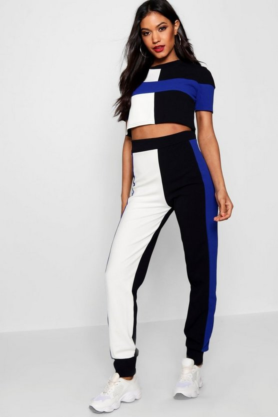 Athleisure Colourblock Jogger Set