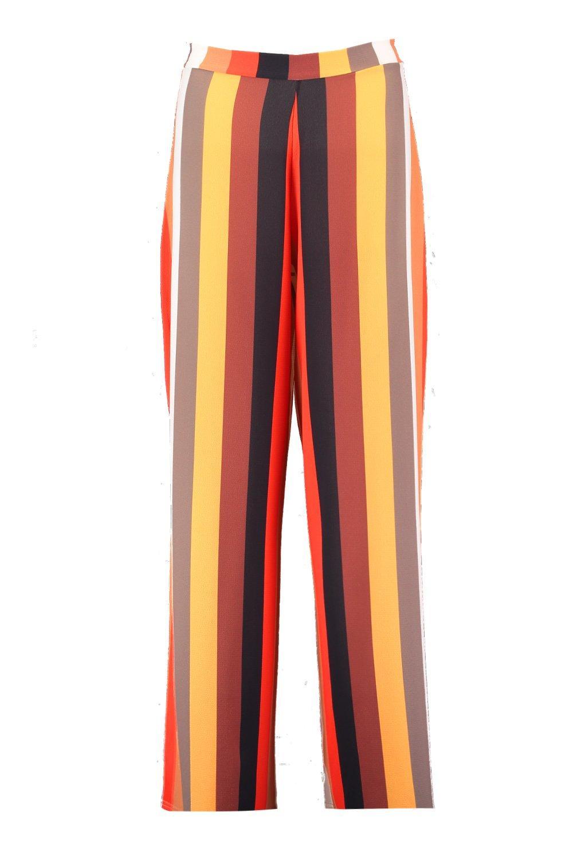 Stripe Wide Trouser Woven Leg tan Tonal dA08qwd