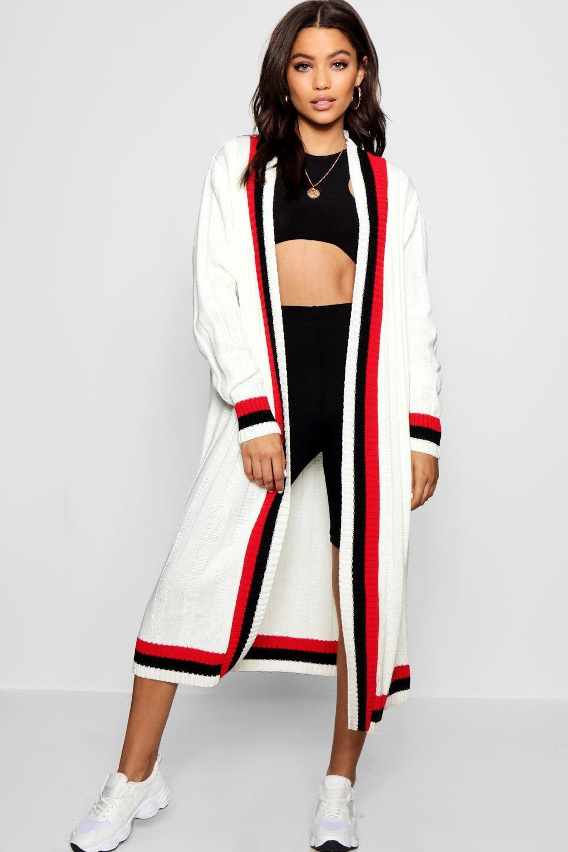Maxi profilature oversize cardigan sportive con rwCqrZzB