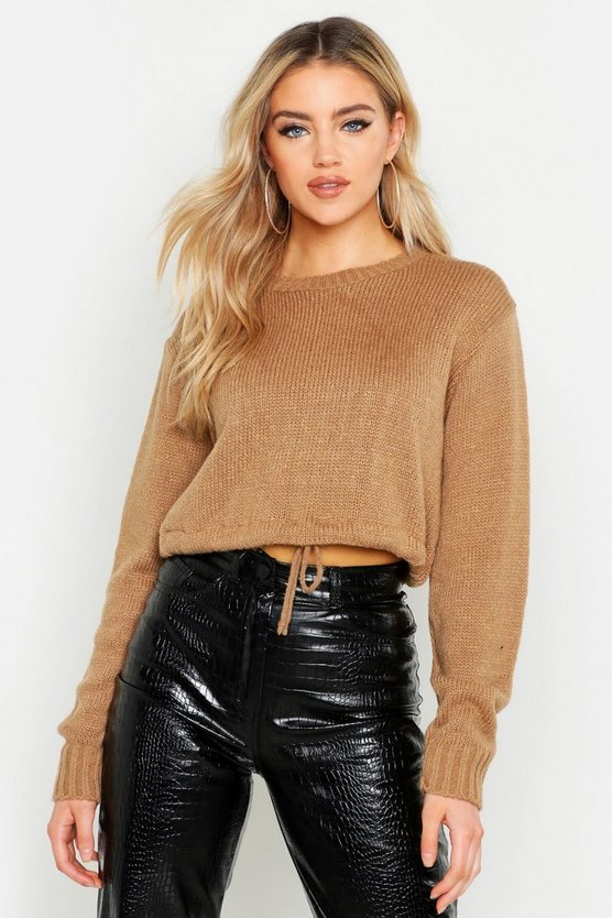 Ruched Hem Soft Knit Jumper