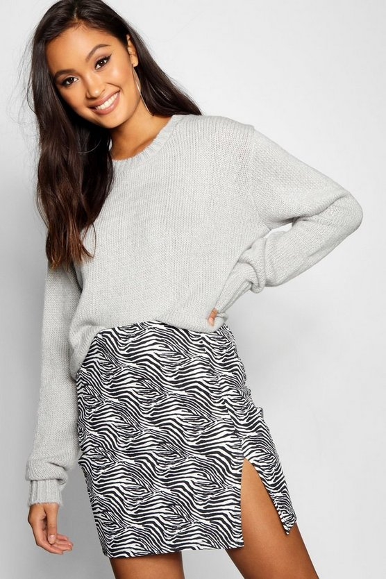 Ruched Hem Soft Knit Sweater