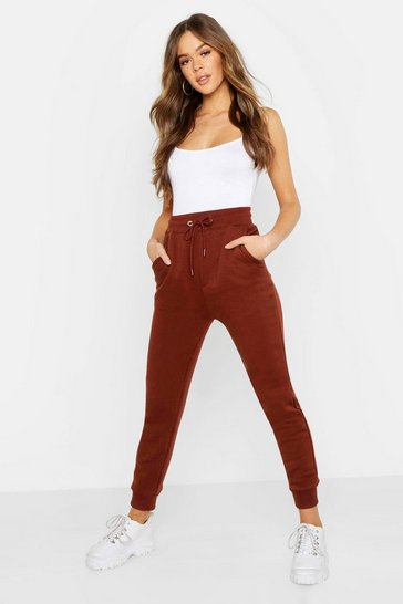 Womens Chocolate Basic Sweat Jogger
