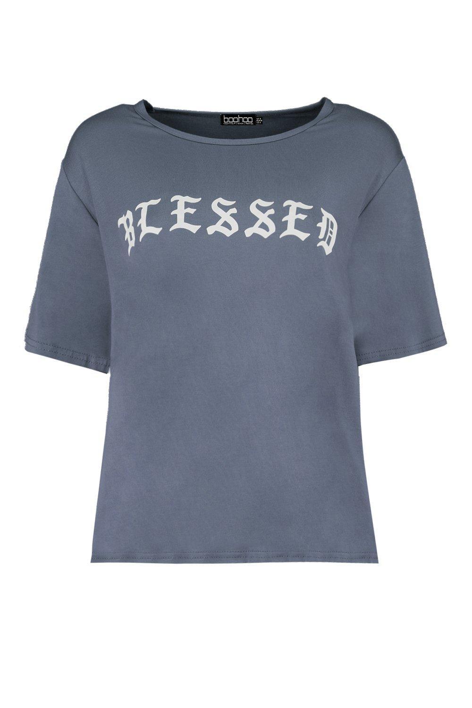 """eslogan """"Blessed Camiseta con extragrande Camiseta extragrande 7w0qIx4q"""