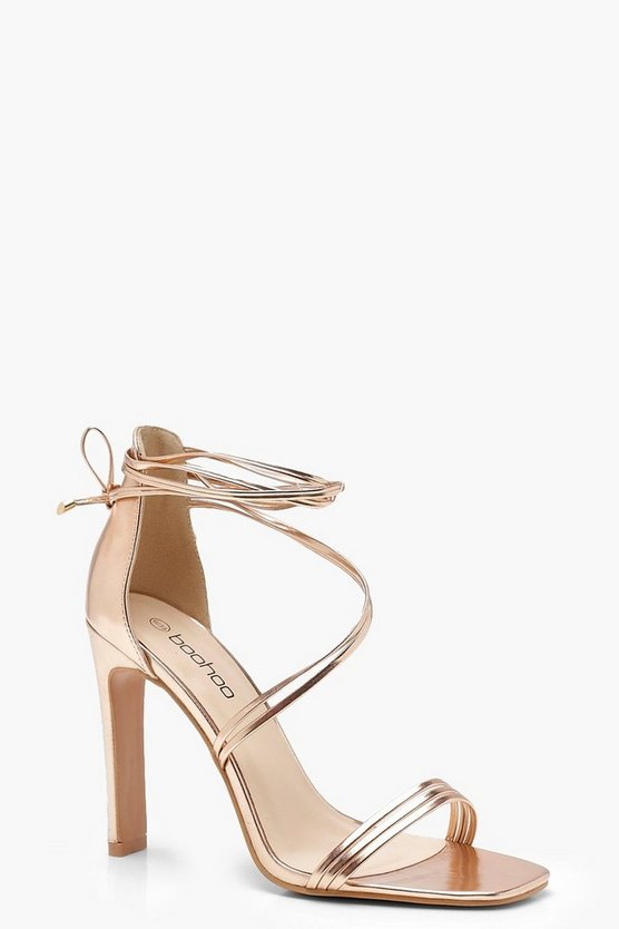 Wrap Strap Slim Block Heels