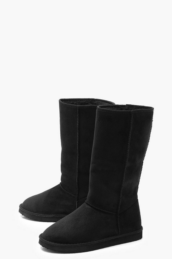 Calf High Cosy Shoe Boots