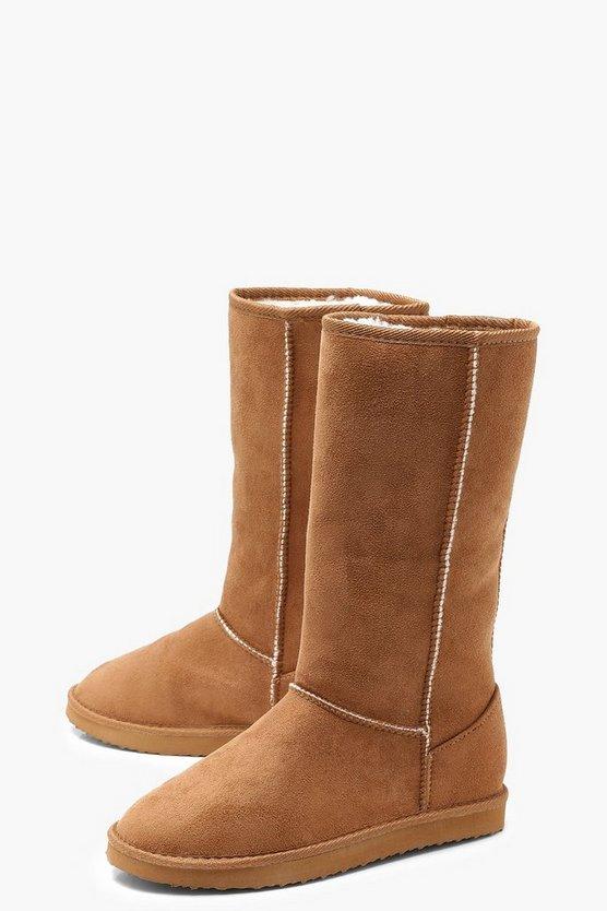 Calf High Cosy Shoe Boots
