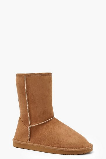 Womens Tan Cosy Shoe Boots