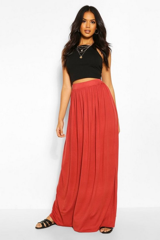 Womens Brick Floor Sweeping Jersey Maxi Skirt