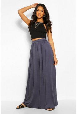 Womens Petrol Floor Sweeping Jersey Maxi Skirt