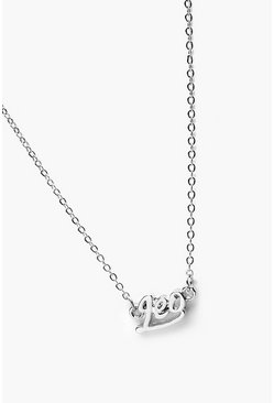 Womens Silver Leo Star Sign Necklace