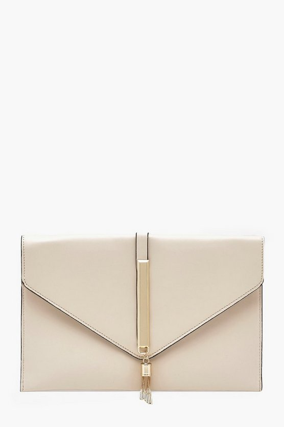 Metal Rod Tassel Envelope Clutch Chain