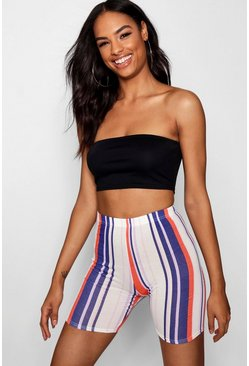 Womens Black Tall Bandeau Crop Top