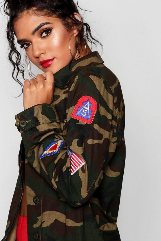 Camo Badge Utility Jacket