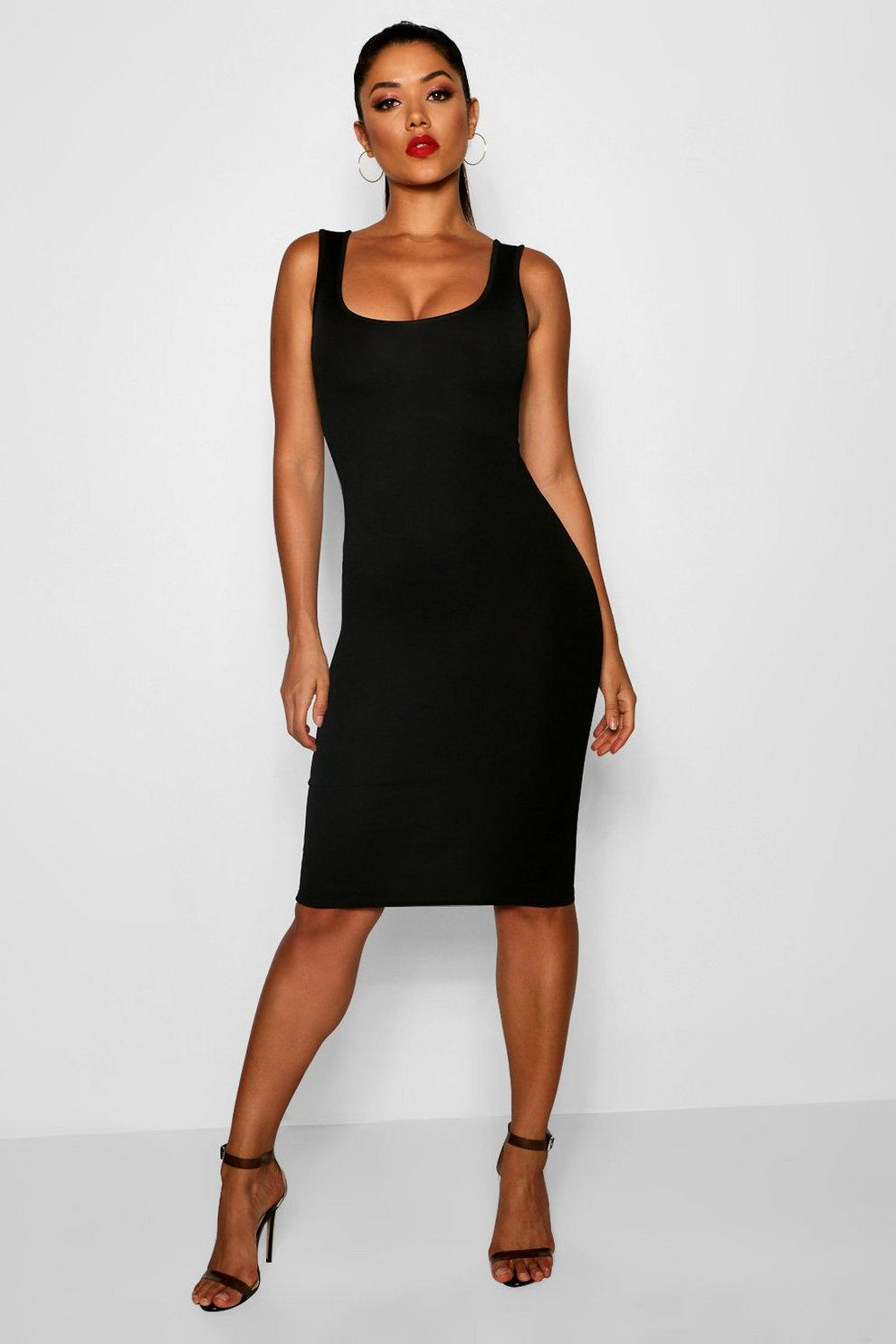 86996aaeeb7 Longline Square Neck Midi Dress