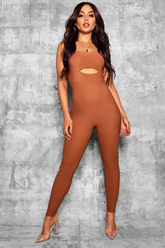 Square Neck Cut Out Detail Jumpsuit