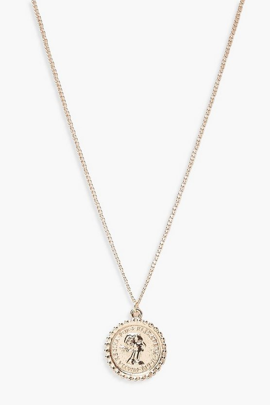 Gold Sovereign Coin Pendant Necklace