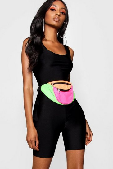 Black High Shine Cropped Unitard
