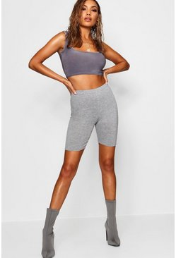 Grey Marl Cycling Shorts, Femme