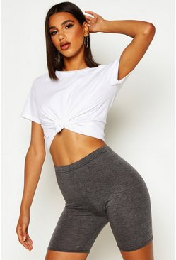 Charcoal Basic Solid Colour Cycling Shorts