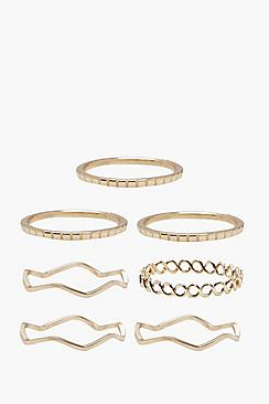 Darcy Delicate Rings 7 Pack