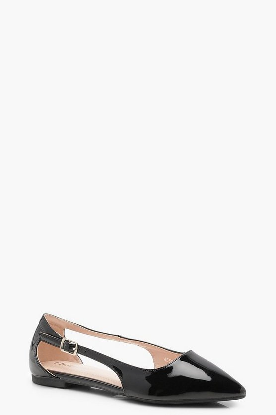 Cut Out Panel Pointed Flats