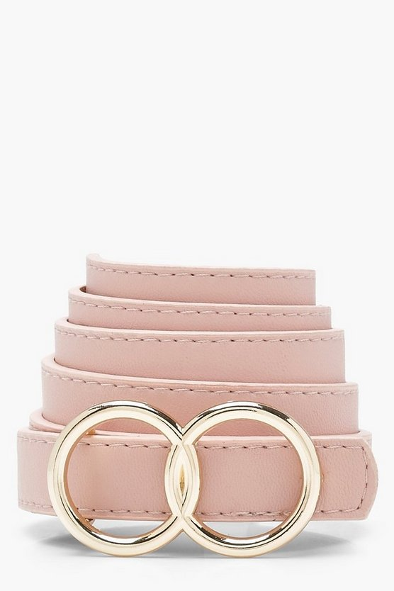 Nude Double Ring Boyfriend Belt