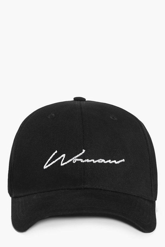 Woman Script Embroidered Cap