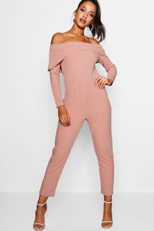 soft de pink largo angular detalle Mono estilo skinny y bardot corte vzxqxH5w