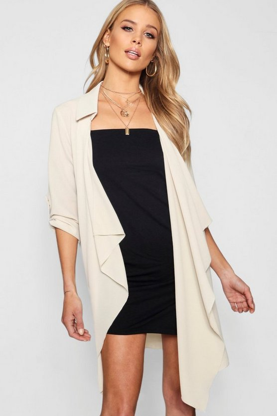 Chiffon Waterfall Duster