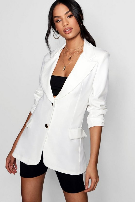 Tailored Collared Pocket Detail Blazer