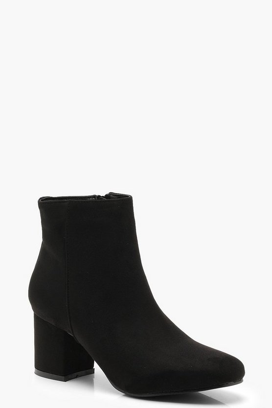 Block Low Heel Ankle Shoe Boots
