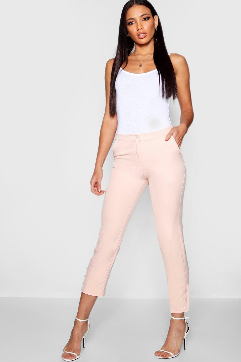 Pearl Pearl Trousers Button blush Tapered Button R5Oaxq7