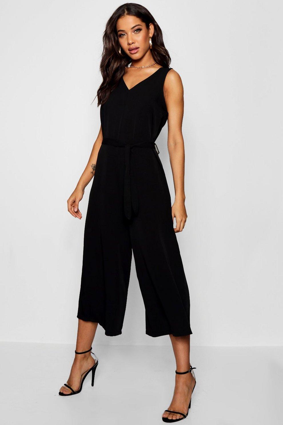 wholesale online attractivefashion new style & luxury Tie Waist Culotte Jumpsuit   Boohoo