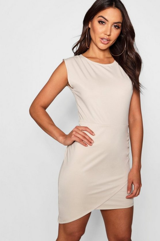 Ruched Side Sleeveless Bodycon Dress