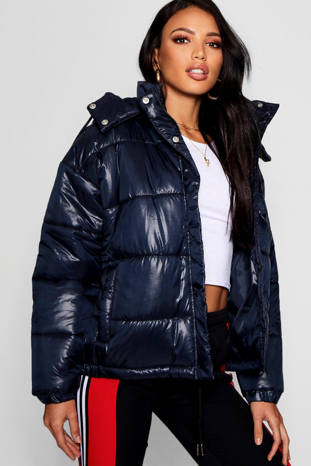Puffer Cire Cire Cire Hooded Puffer Hooded navy navy Jacket Jacket Cire Hooded Hooded Puffer Jacket navy qSvCw0C