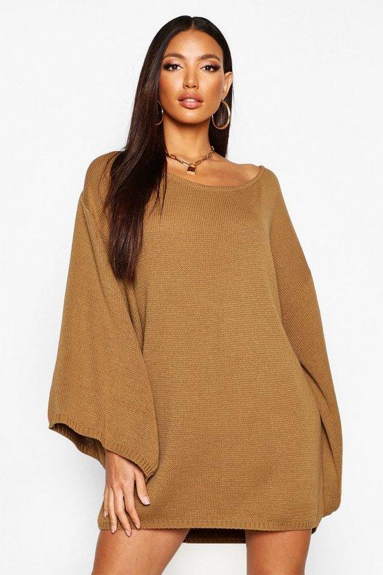 Oversized Wide Sleeve Jumper Dress