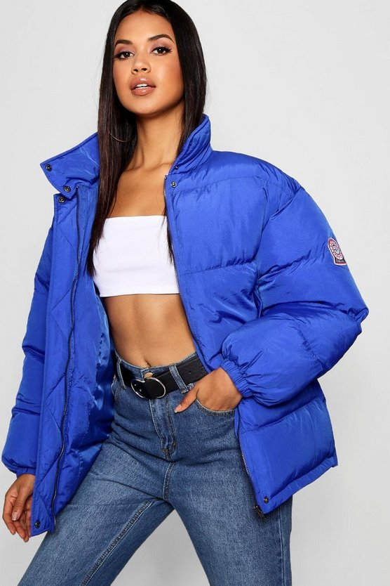 Womens Lapis Sporty Puffer Jacket