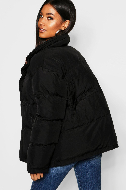 alzado Chaqueta cuello de negro inflada 446wqfrxt