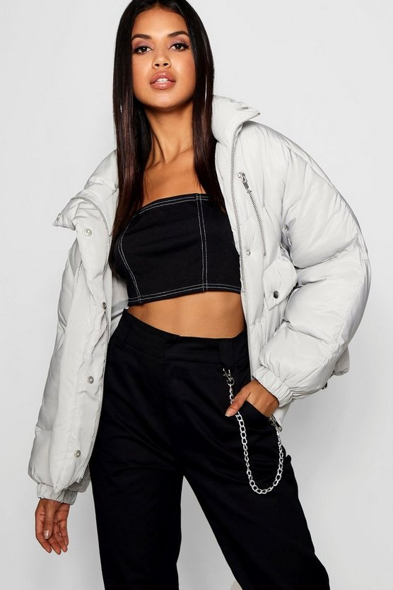 Double Zip Puffer Jacket