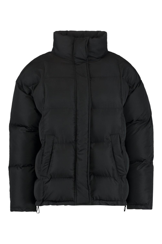 Chaqueta inflada negro cuello con alzado wqpzWSZfw