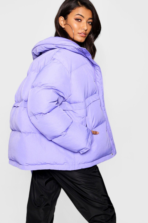 alzado violeta cuello inflada con Chaqueta wtqfAHTn