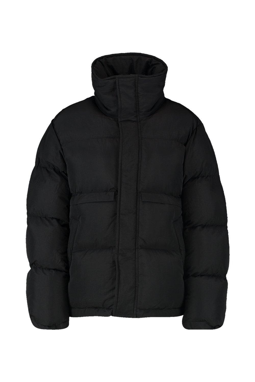 inflada alzado Chaqueta negro con cuello qddTxCf