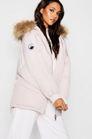 Womens Stone Oversized Padded Jacket