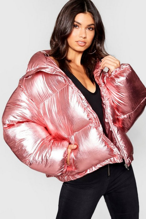 Metallic Padded Jacket